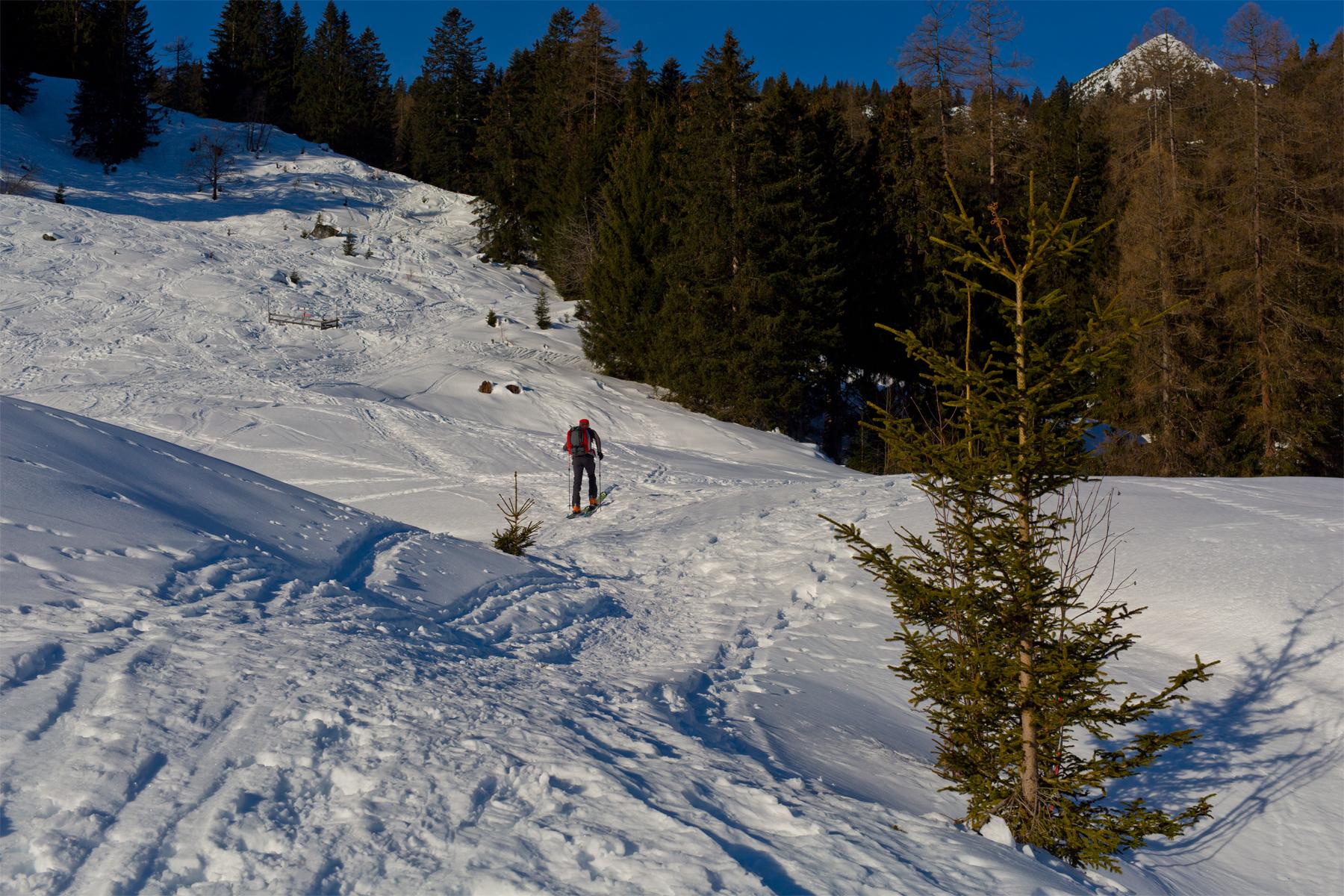 Klaus beim Aufstieg