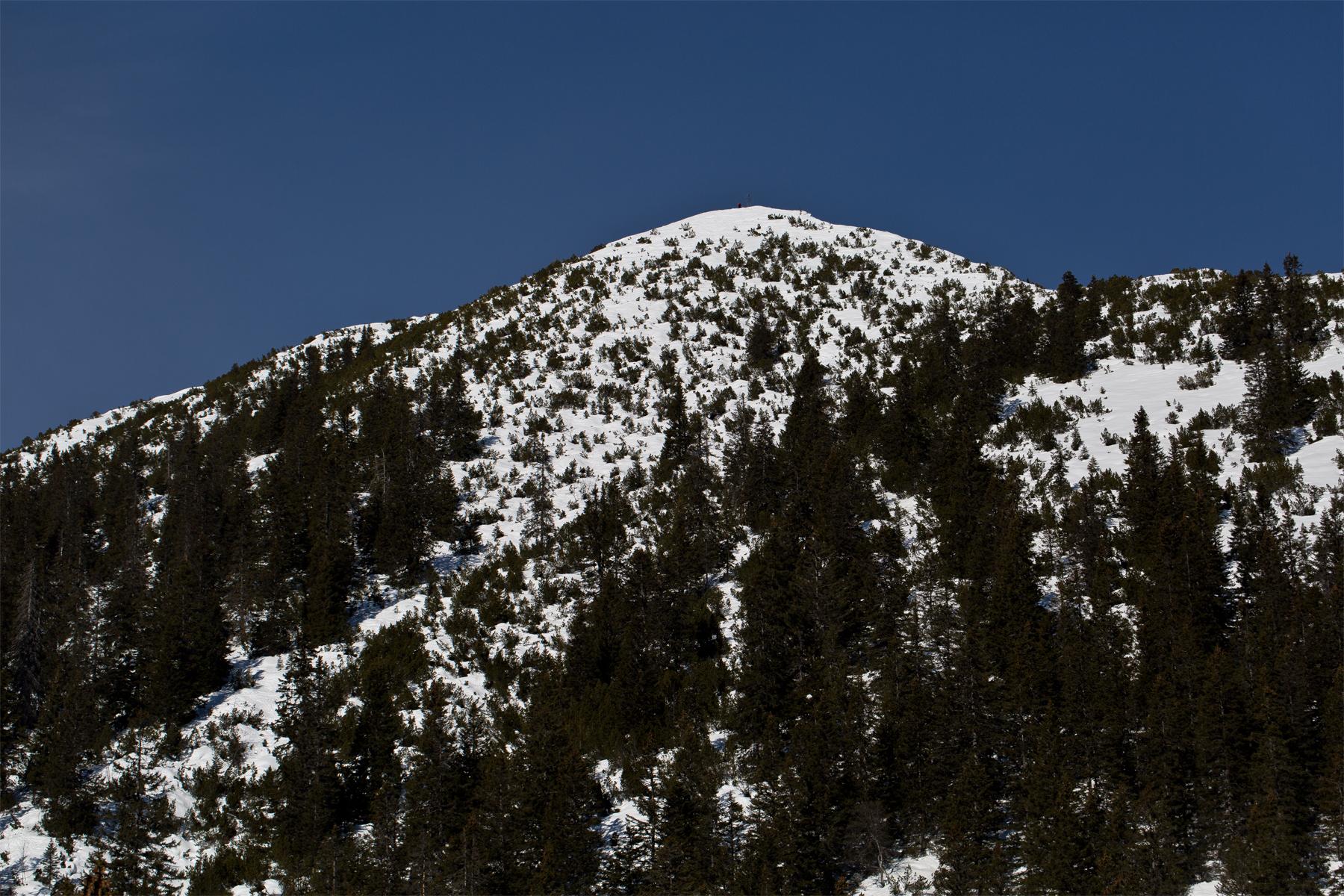 Mondspitze (auf dem Gipfel ein Tourengeher zu sehen)