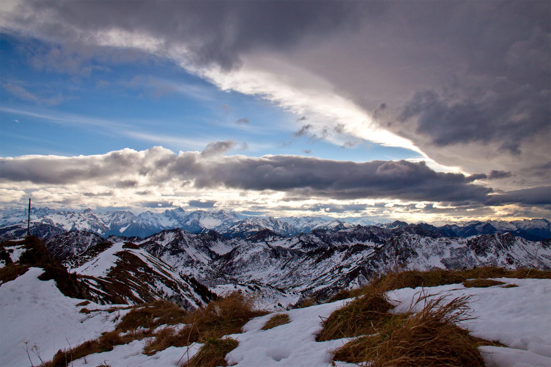 Wolkenband überm Rätikon
