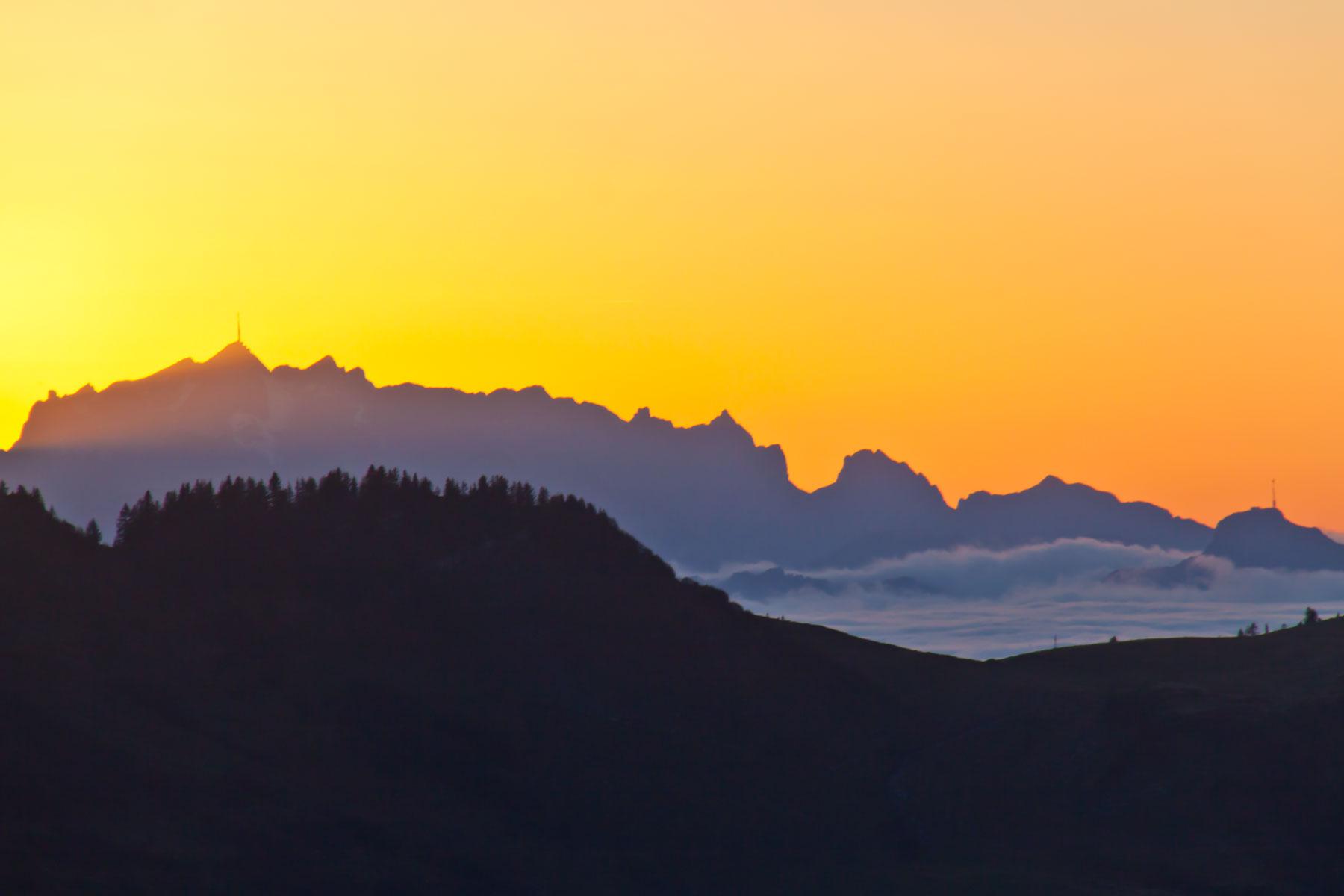 Sonnenuntergang Alpstein