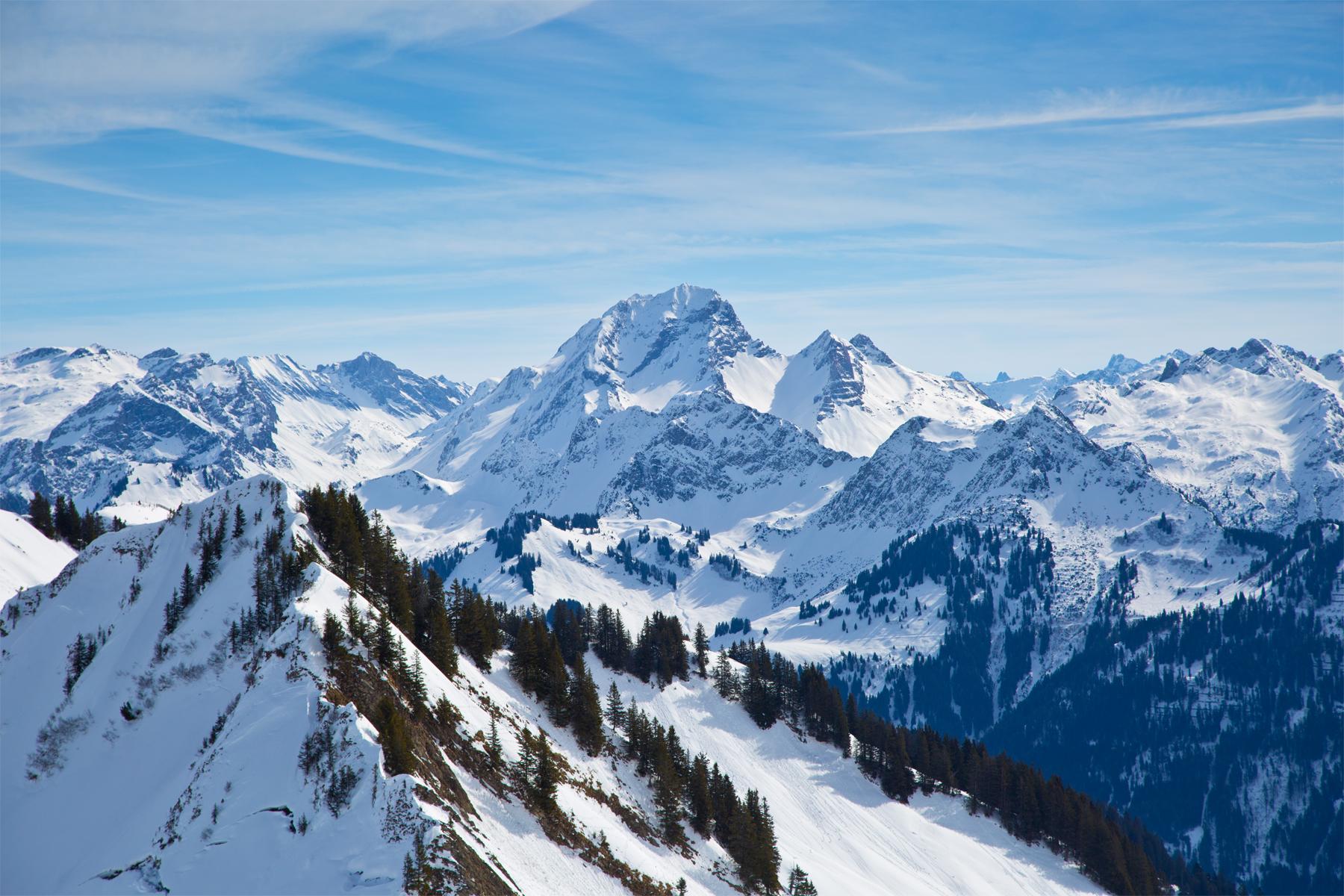 Markanteste Berg des Lechquellengebirges, Rote Wand