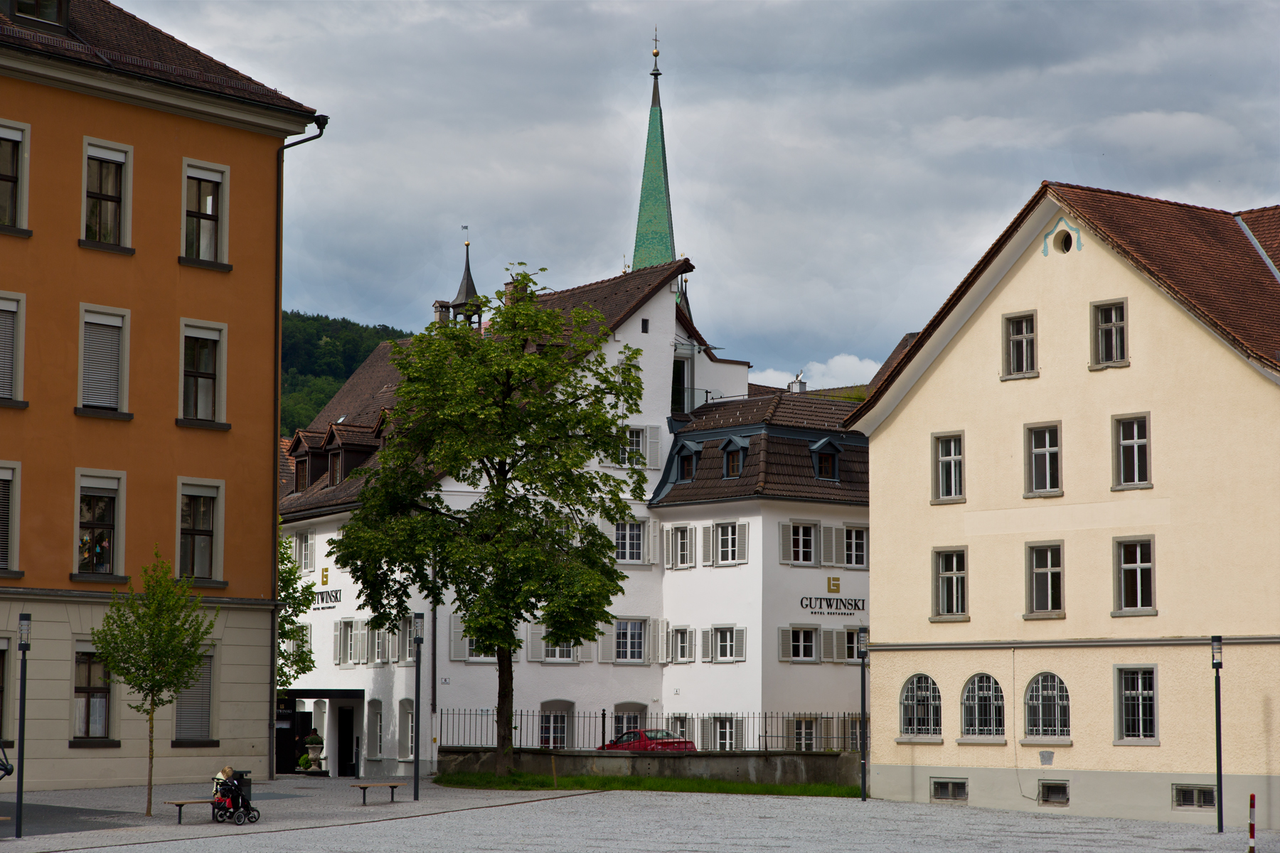 Feldkirch, Gymnasiumgasse, Hotel Gutwinski
