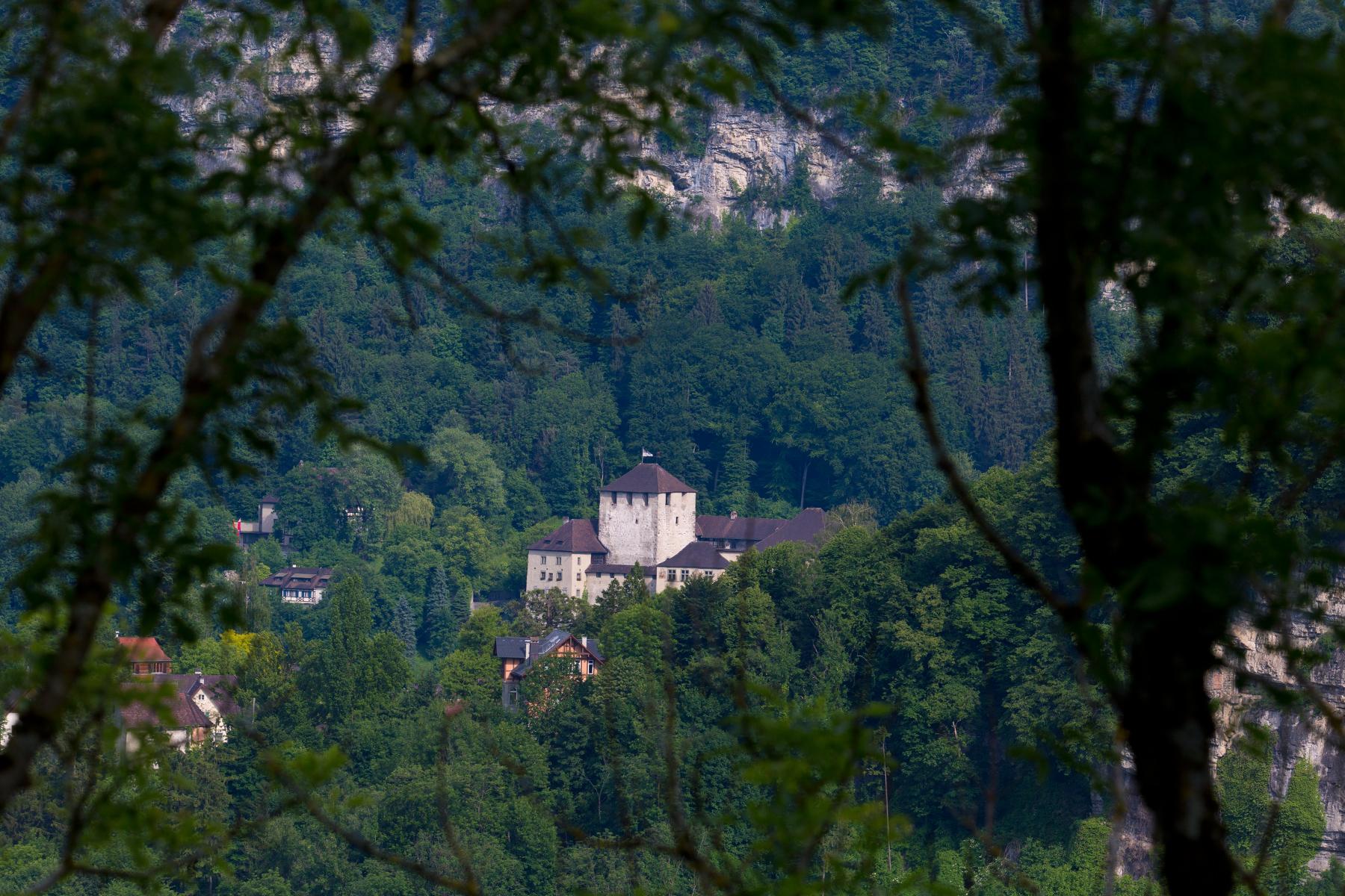 Schattenburg von der Ruine Tosters aus gesehen