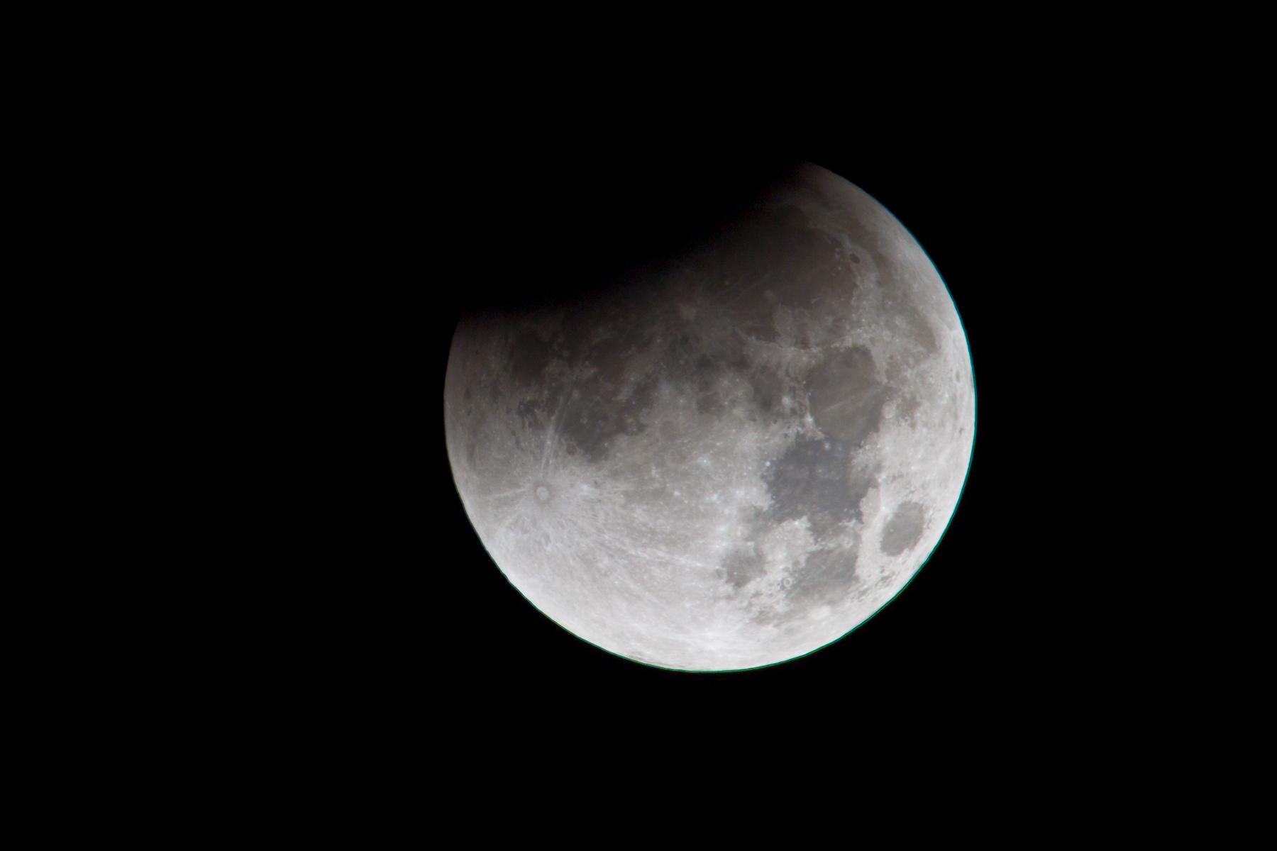 Beginn der Mondfinsternis