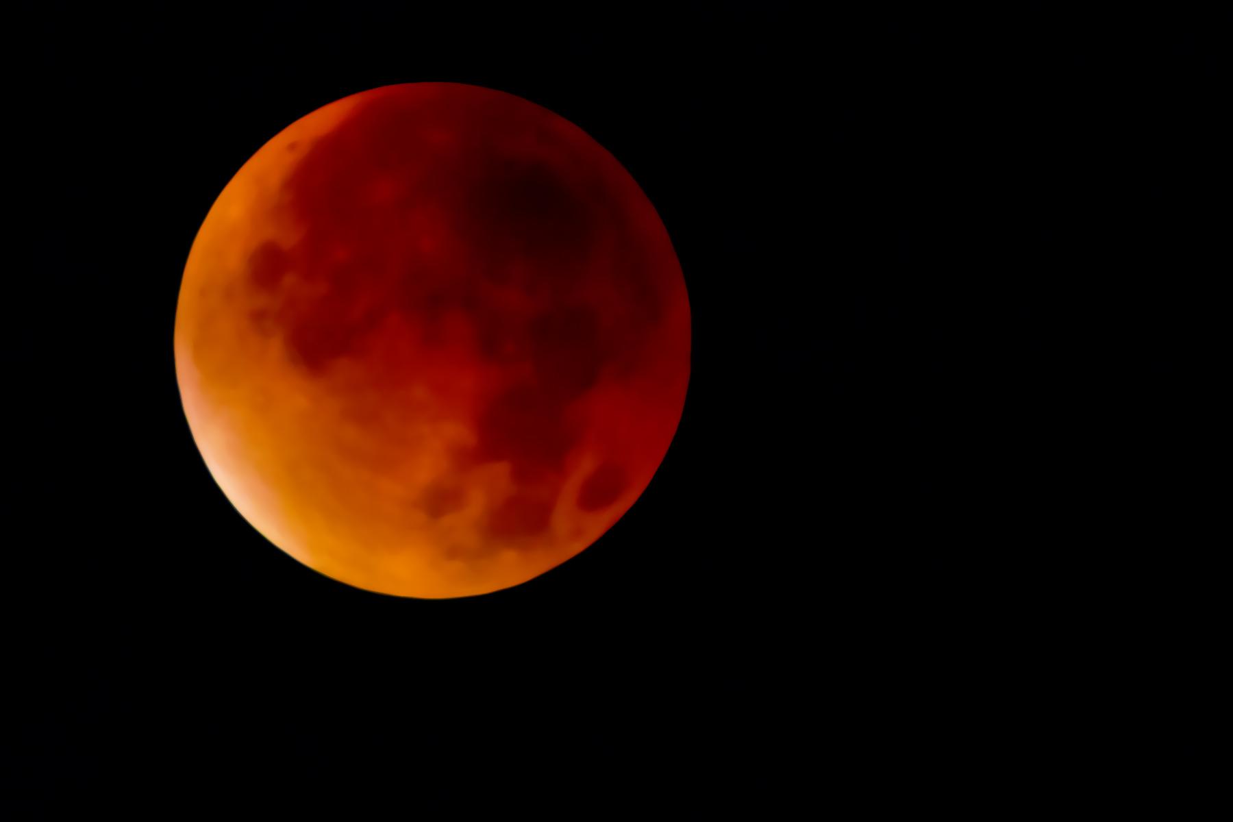 Mondfinsternis und Blutmond