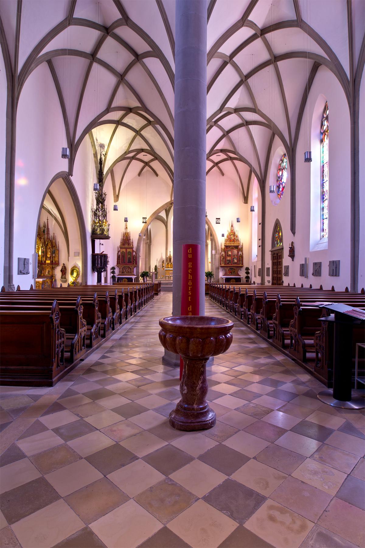 Mittelgang Dom St. Nikolaus, Feldkirch
