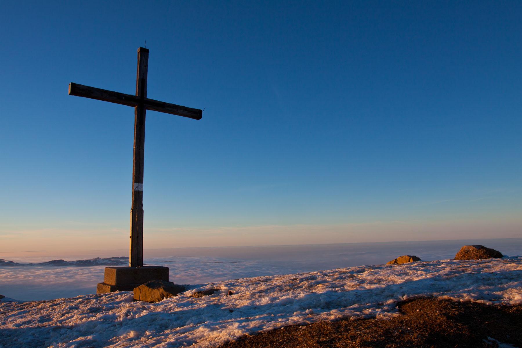 Gipfel- Blick Richtung Bodensee, doch ...