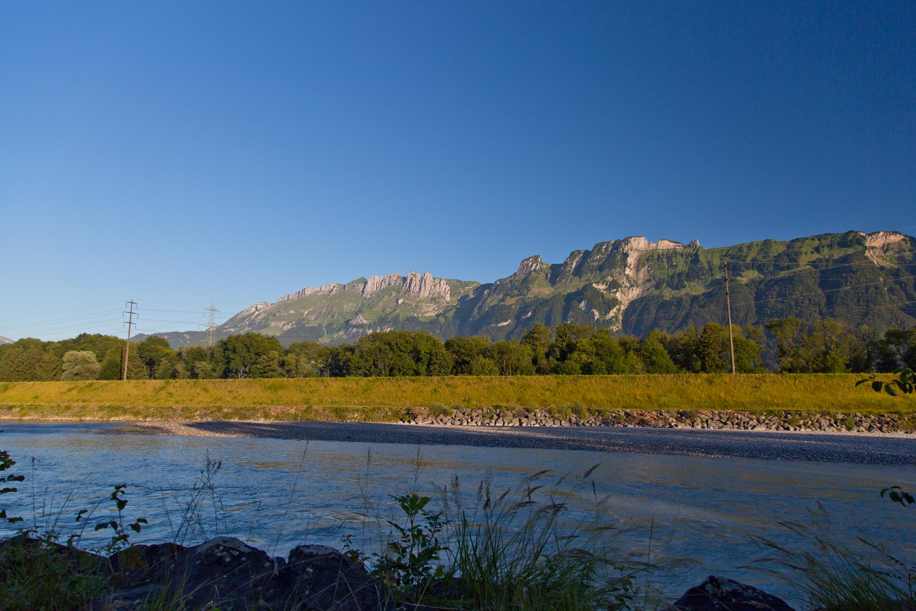Rhein und östlicher Rand des Alpsteins