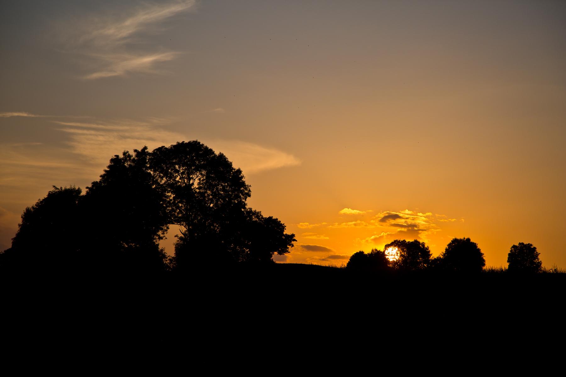 Sonnenuntergang bei Amtszell