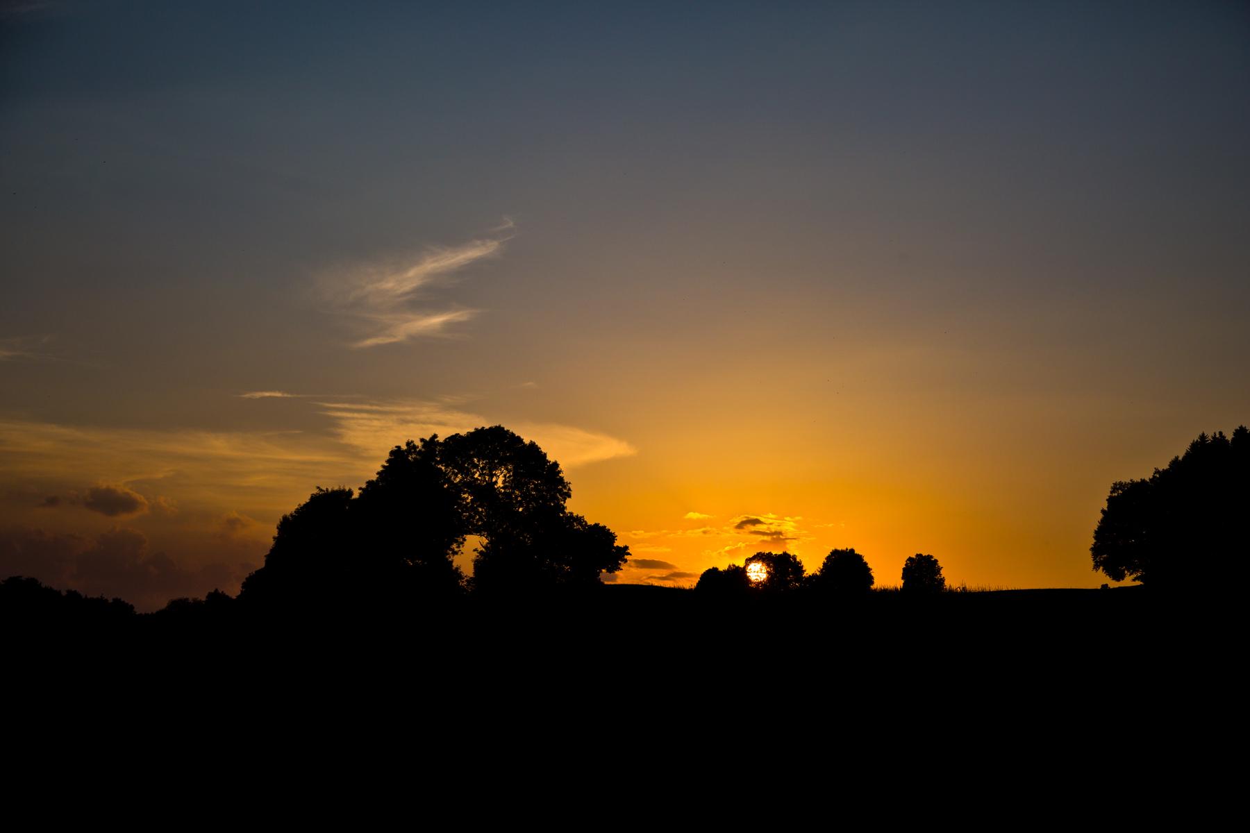 Sonnenuntergang bei Amtzell