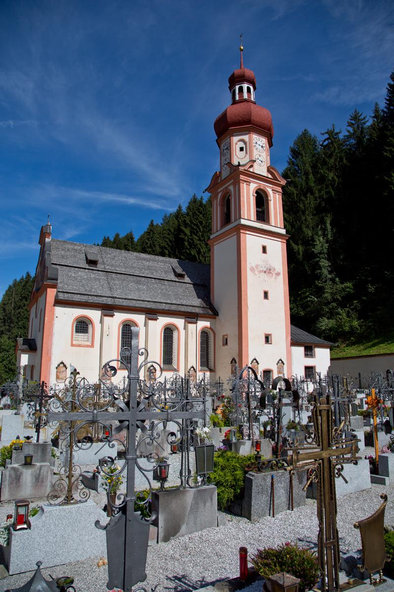 Friedhof und Kirche St. Martin - Gries im Sellrain, Tirol