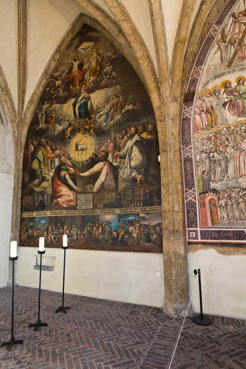 Fresko Anbetung des Lammes; Magdalenenkapelle - Hall in Tirol