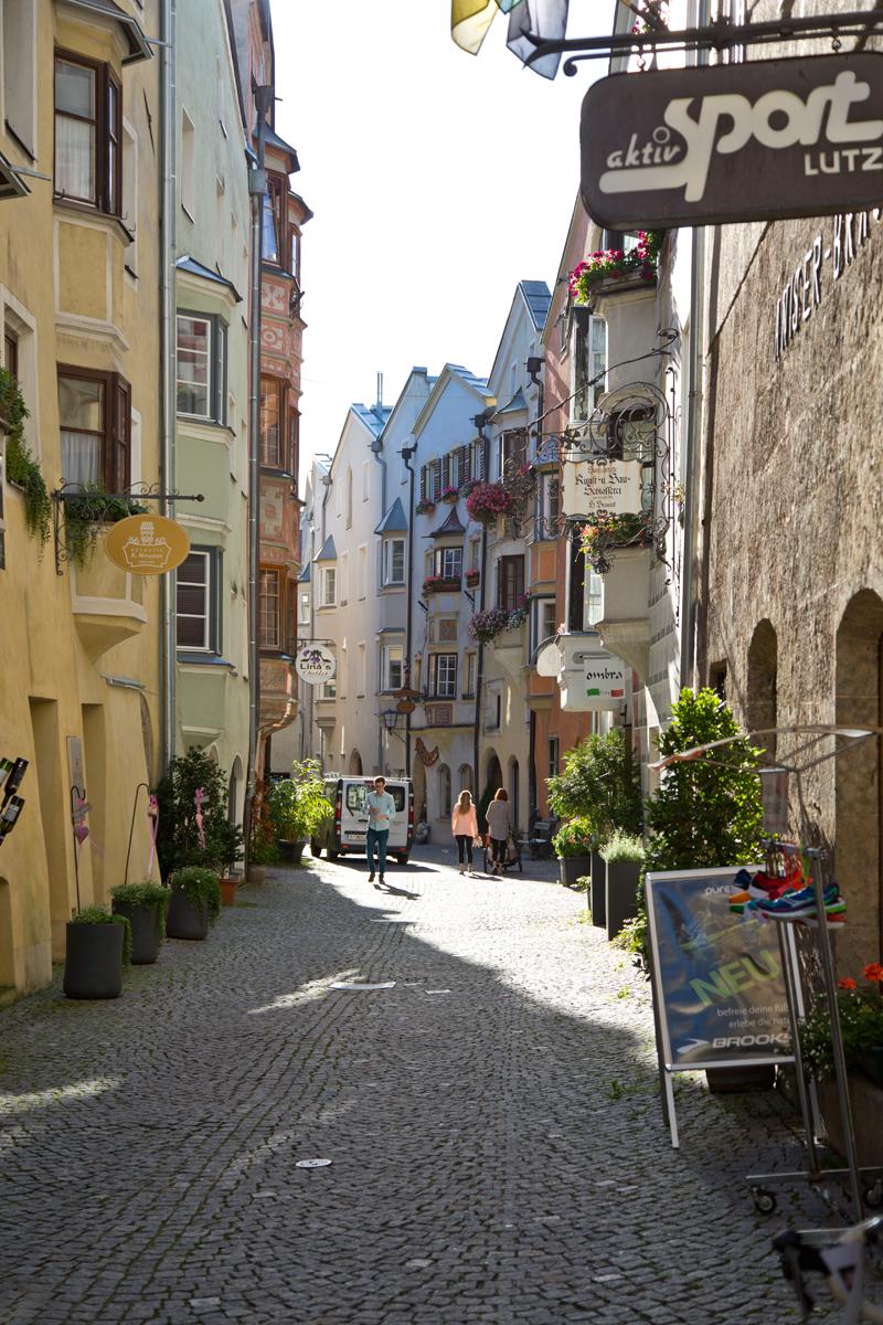 Gasse in der Altstadt - Hall in Tirol