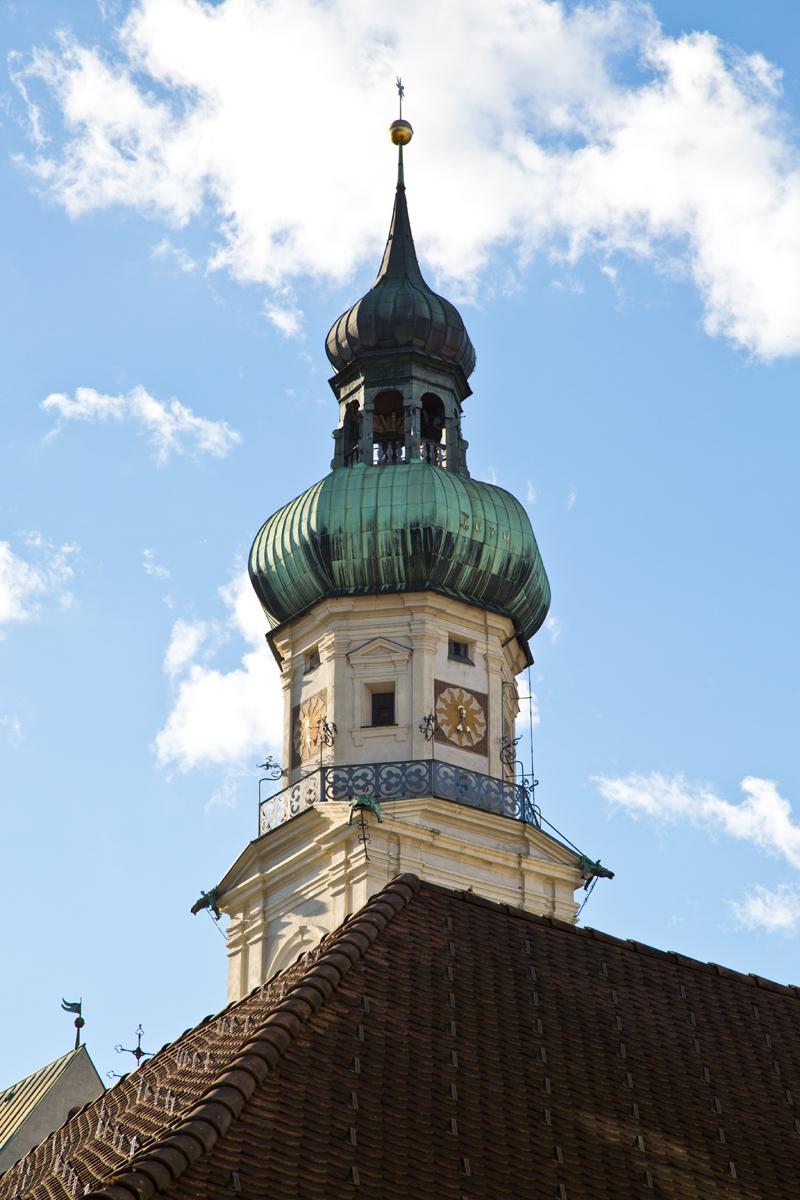 Kirchturm Stadtpfarrkirche - Hall in Tirol