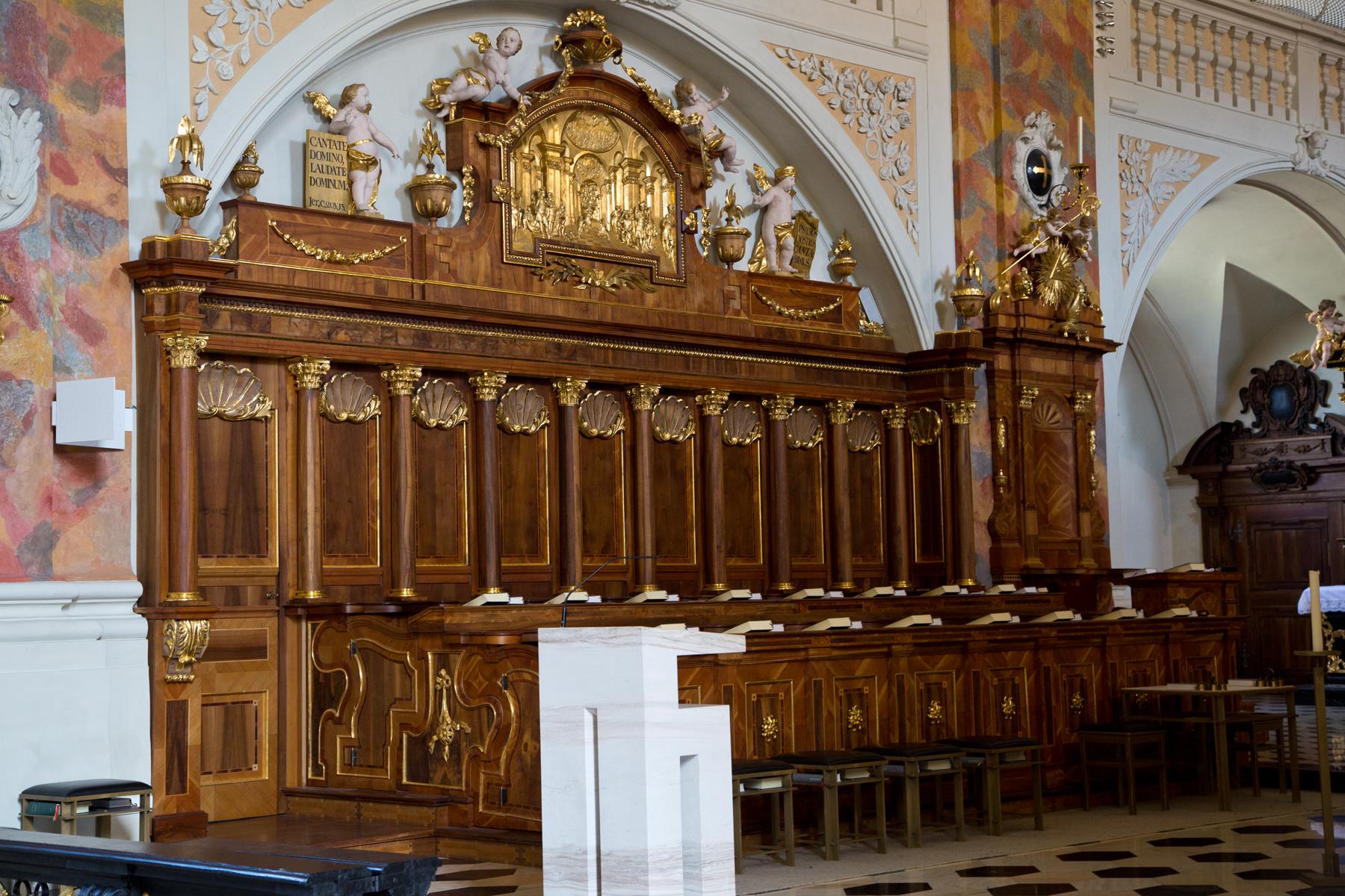 Chorgestühl-Stiftskirche-Wilten