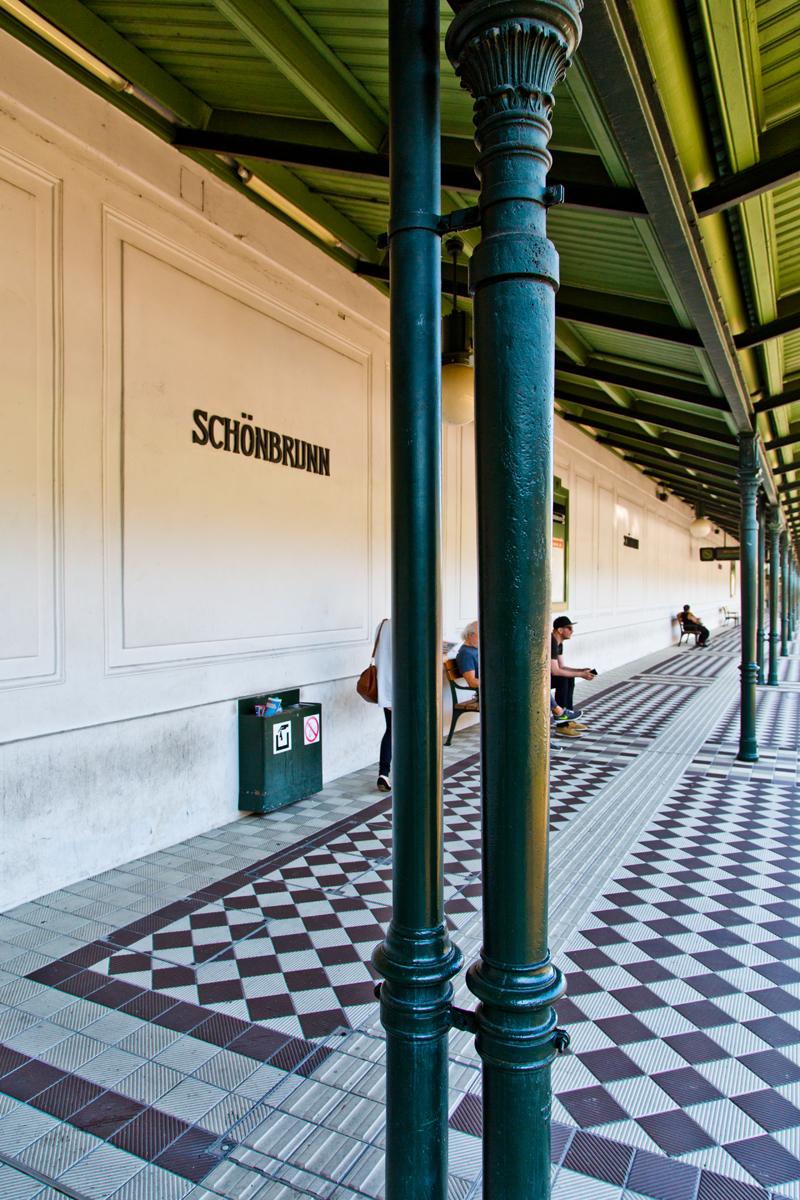 U-Bahnstation U4, Schönbrunn, Wien