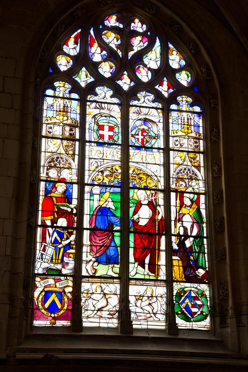 Glasmalerei - Darstellung Philiberts des Schönen und  Margarete von Österreich