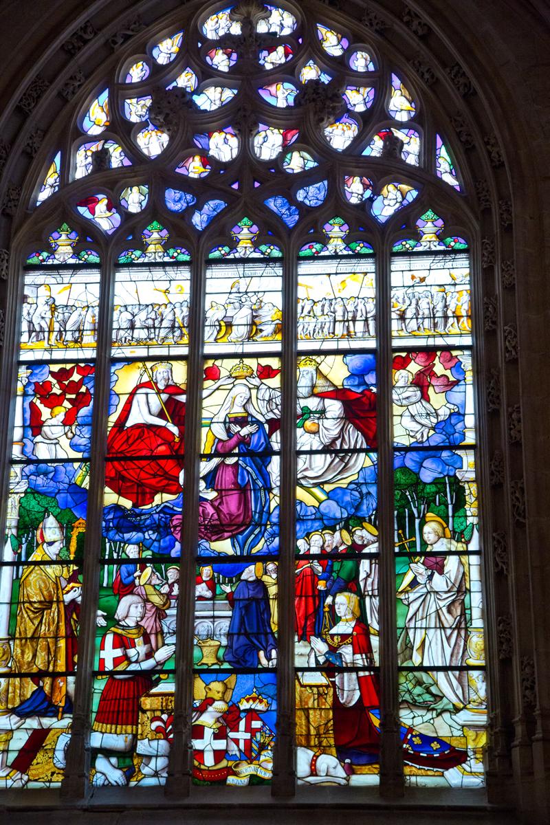 Glasmalerei -  Philibert der Schöne und Margaretes von Österreich