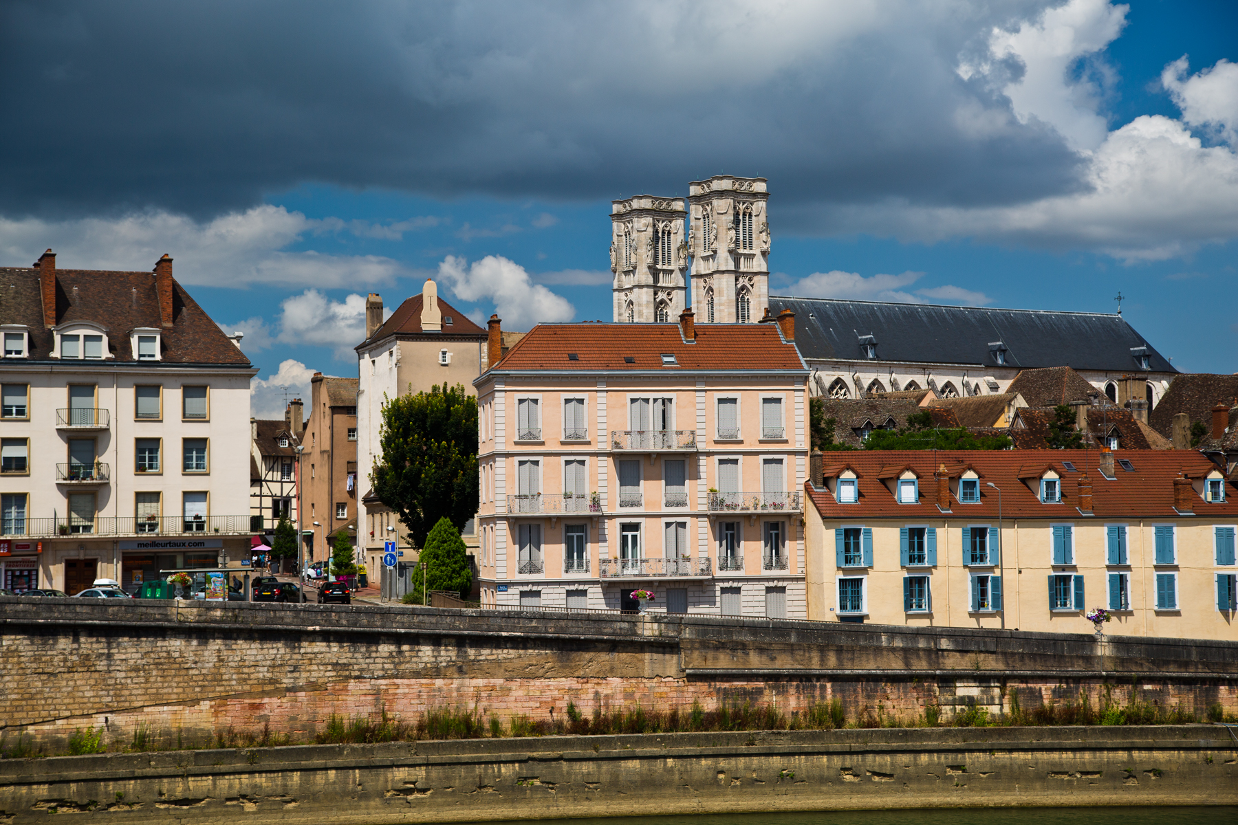 Blick auf Kathedrale St. Vincent - Chalon-sur-Saône, Burgund