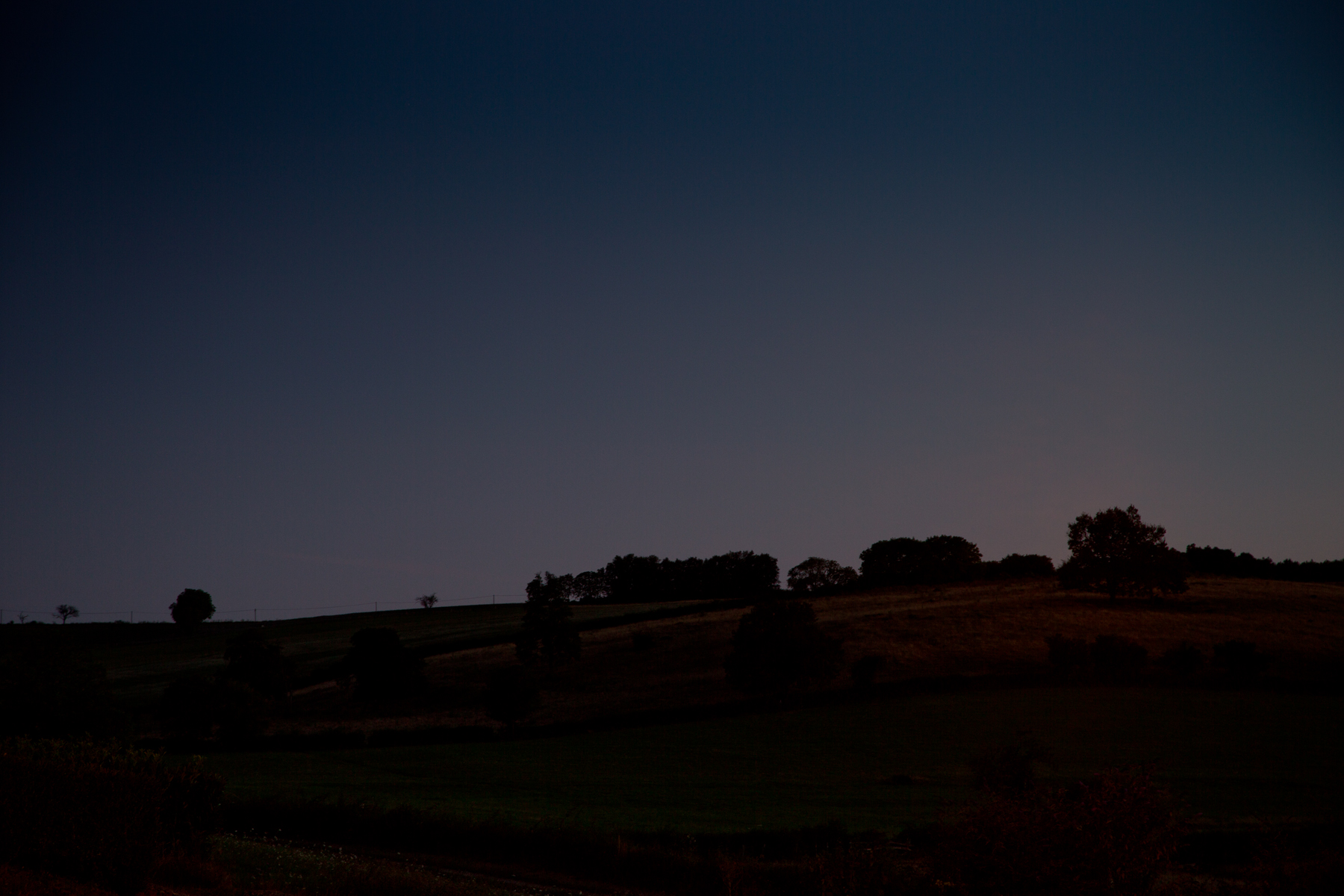 Silhouette Hügel