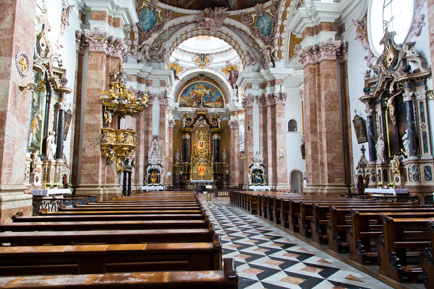 Innenraum Dom St. Jakob - Innsbruck, Tirol