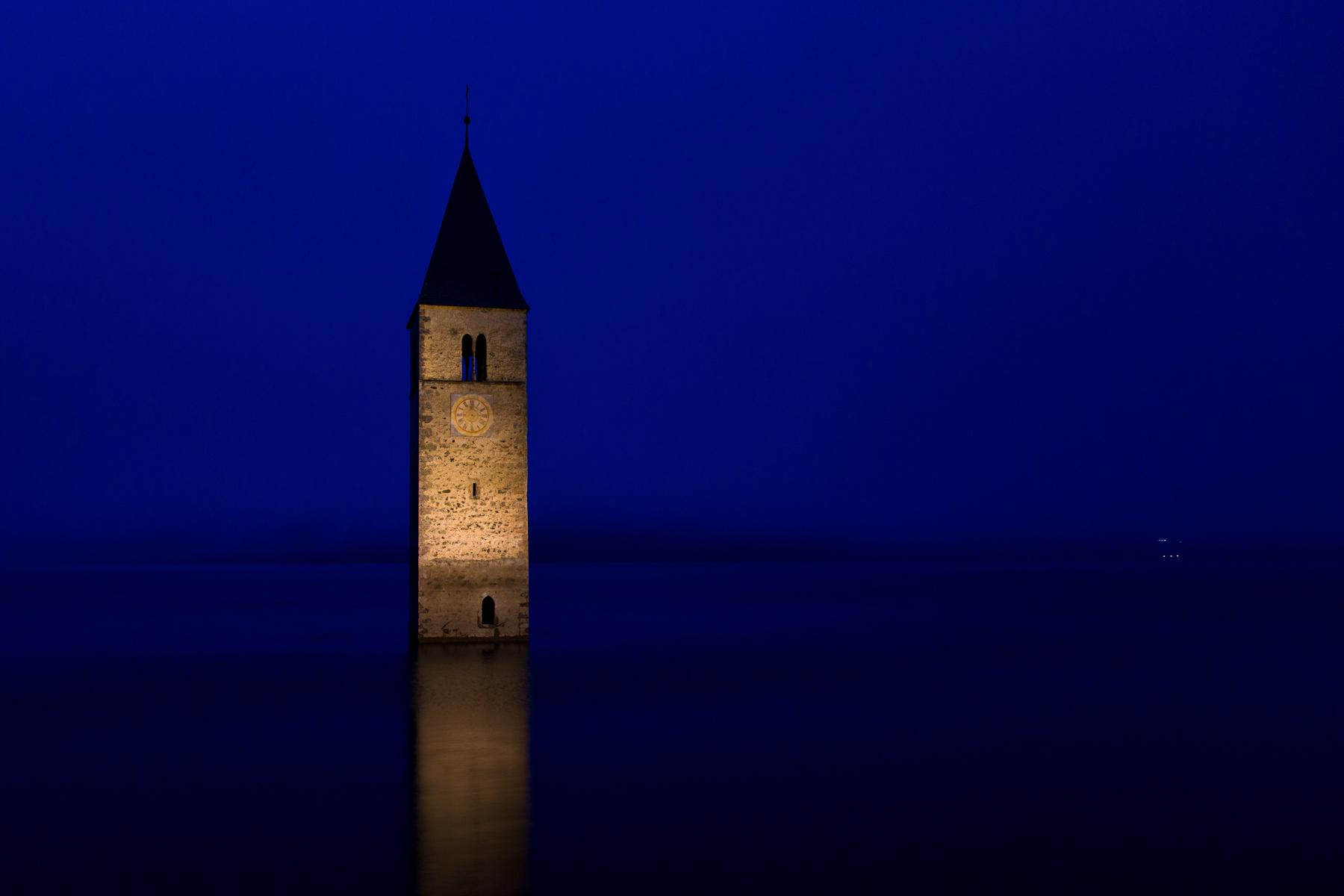 Reschensee mit Turm