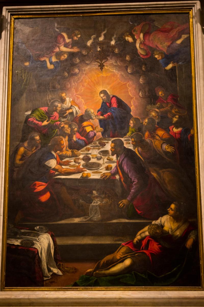 Jacopo Tintoretto - Das letzte Abendmahl (Seitenaltar)