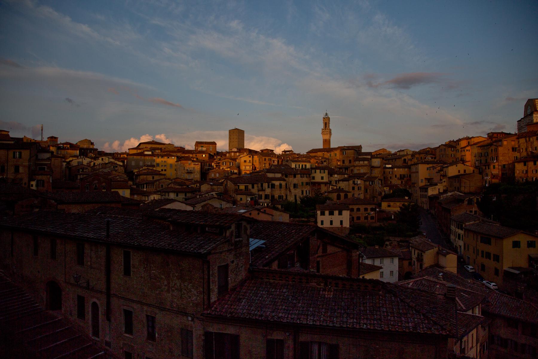 Siena im Abendlicht