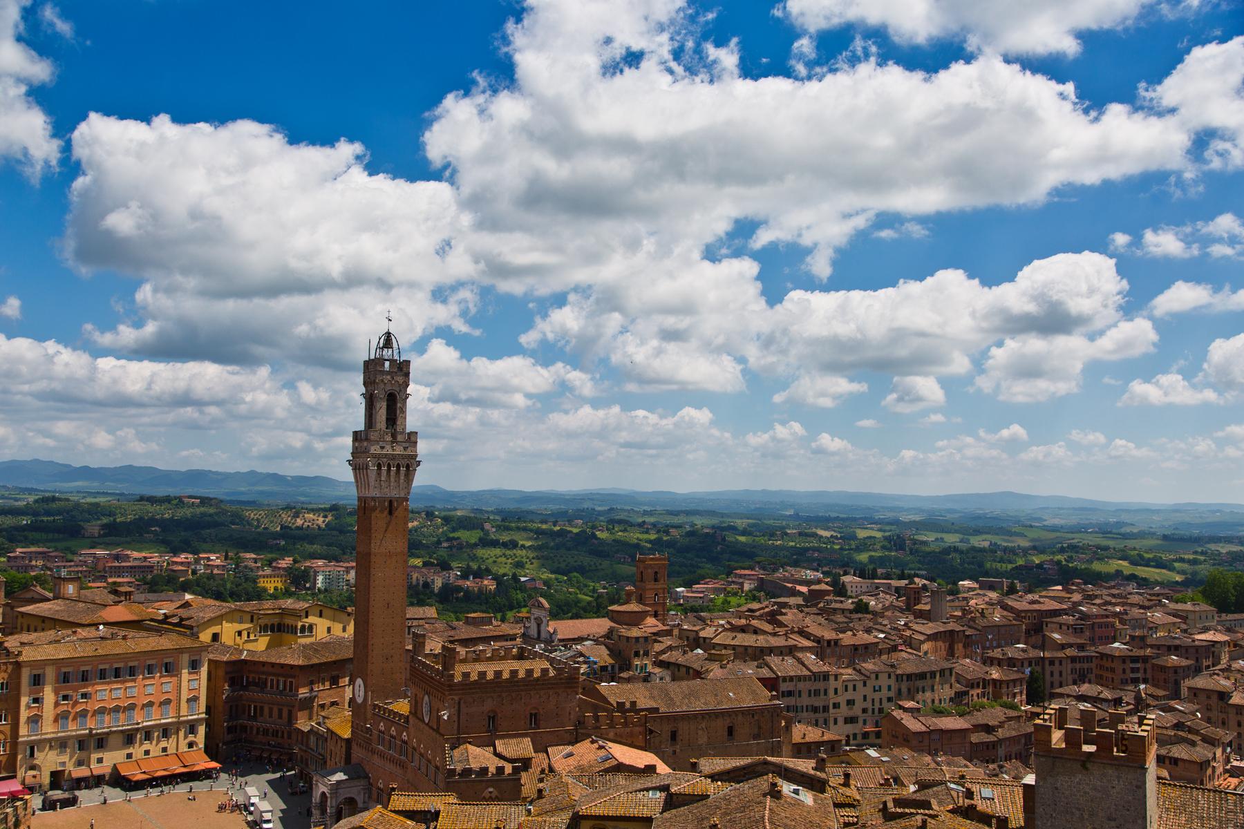Blick auf Siena vom Duomo nuovo