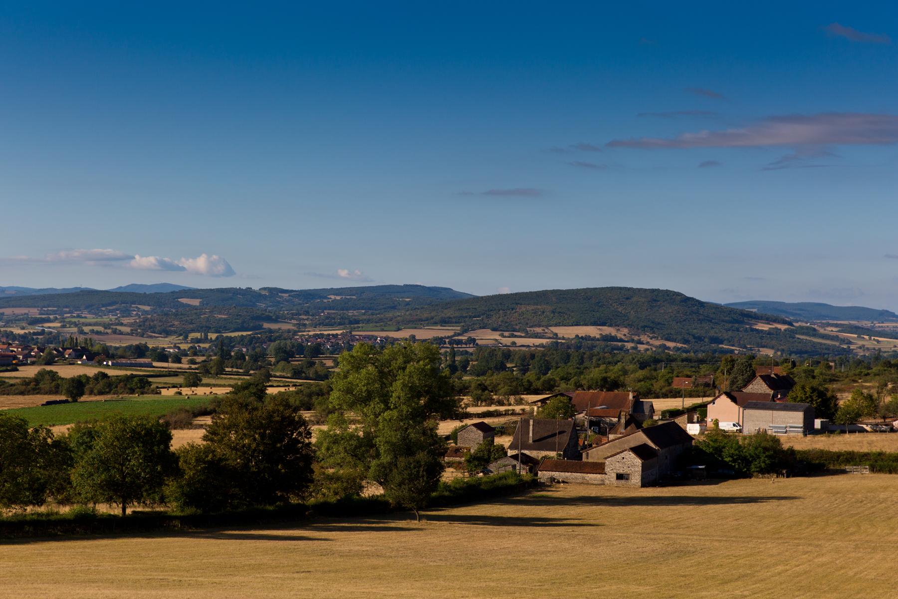 Landschaft Süd-Burgund; Bonnay