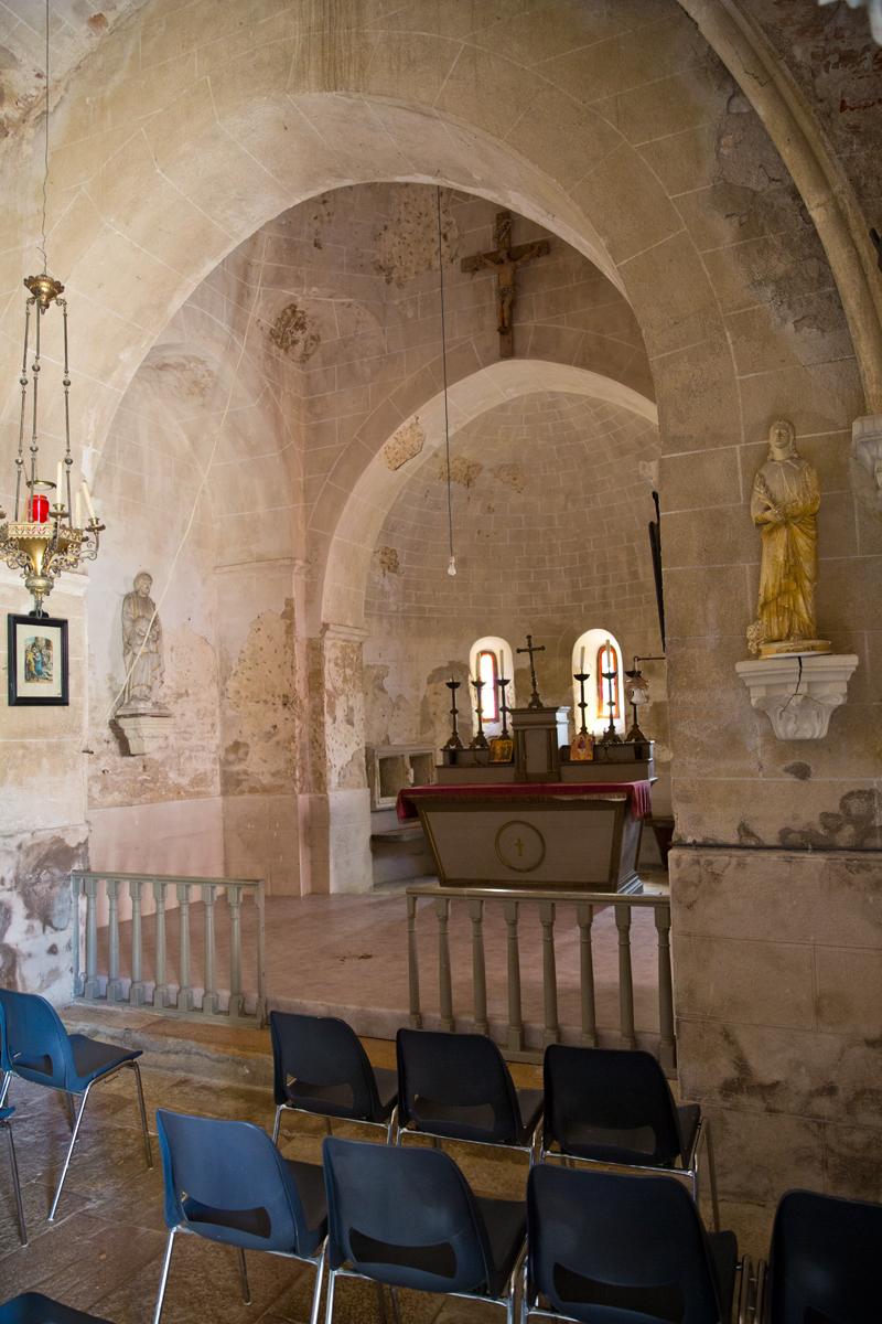 Blick in den Kirchenchor