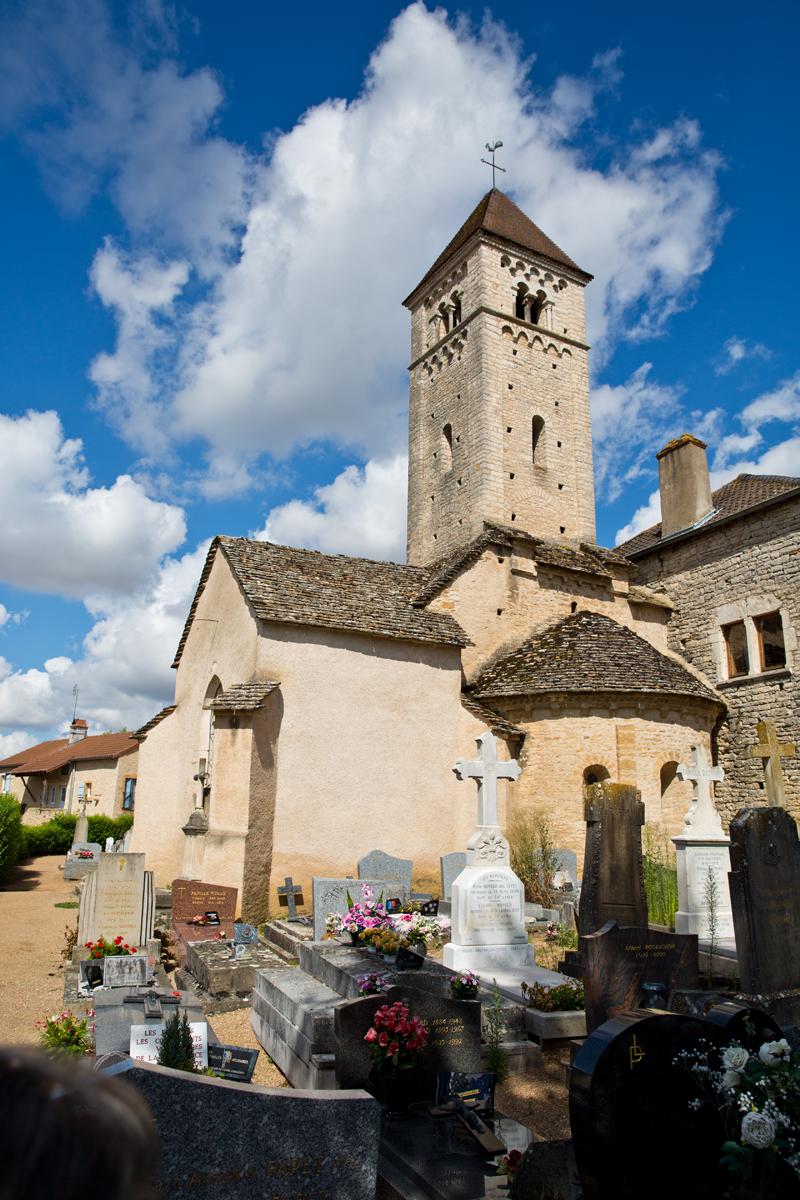 Außenansicht Notre-Dame, Chazelle