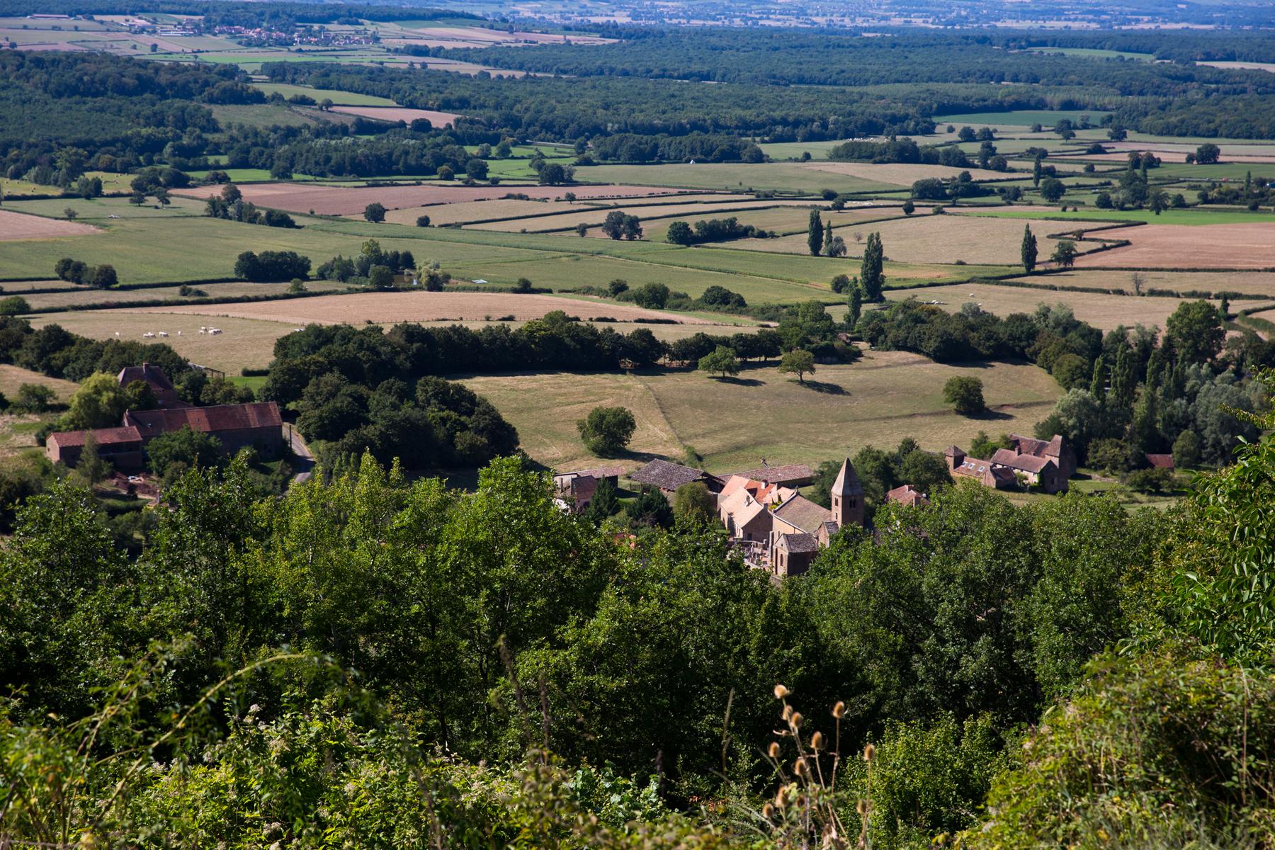 Ausblick auf La Chapelle-sous-Brancion
