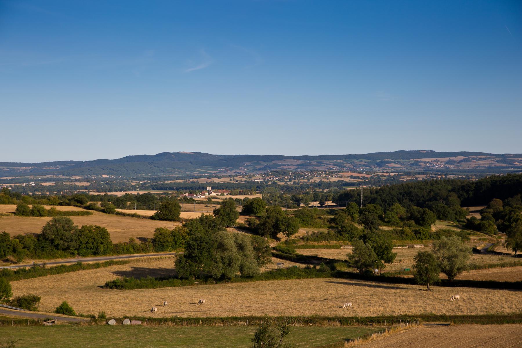 Landschaft um Saint-Gengoux-le-National