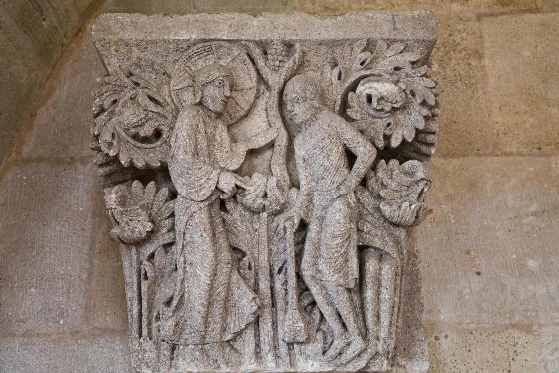 Giselbertus-Kapitelle-Plastik-Bildhauerarbeit-Autun-Burgund-Bourgogne